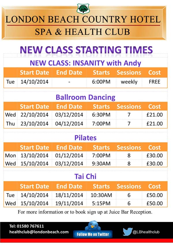 Classes Timetable