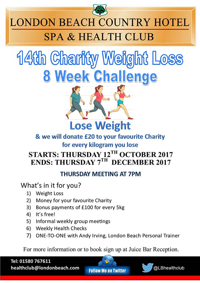Weight loss challenge October 2017