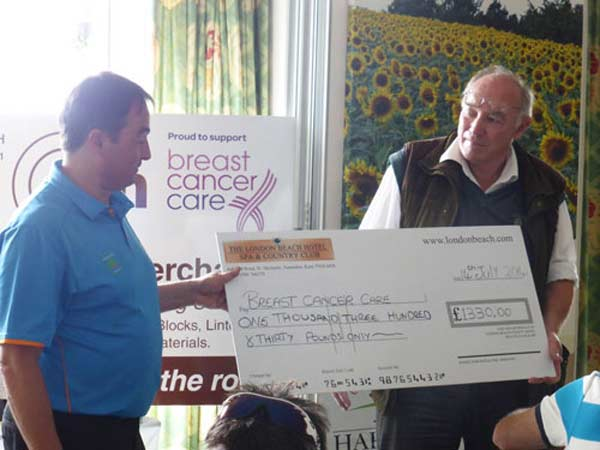 Otford Builders Golf Society Day raises money for Bereast Cancer