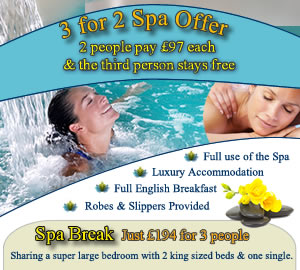 3 for 2 Spa Offer